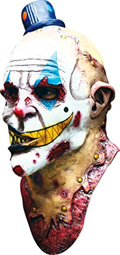 Mime Zack Evil Monster Scary Zombie Clown Latex Adult Halloween Costume Mask