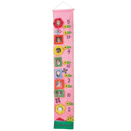 Child Growth Chart See Me Grow Fabric Growth Chart Pink