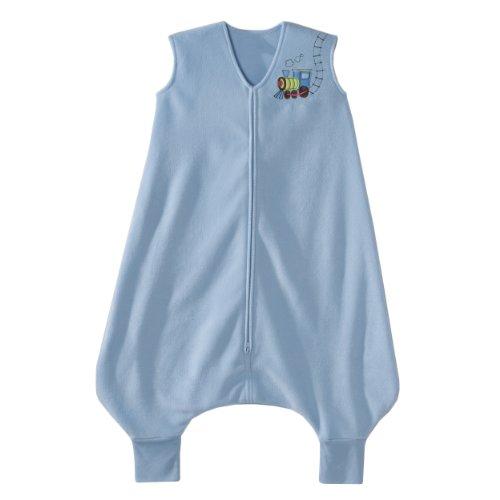 HALO Early Walker SleepSack Micro Fleece Wearable Blanket, Blue, Large,HALO,2801
