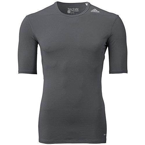 adidas Performance Mens adidas Men's Techfit Compression Baselayer Short sleeve