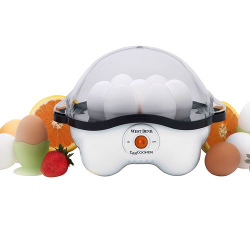 Kitchen Automatic Egg Cooker, Automatic, Poaching Pan, Egg Rack, Cup, White