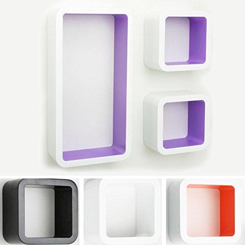 casa-pura-Design-Wandregal-Oxford-Set-aus-3-Wrfeln-Hochglanz-freischwebend-versteckte-Halterung-gesundheitsfreundliche-Materialien-4-Farben-wei-lila