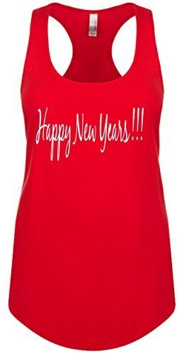 Junior's Funny Tank Top Size XL (HAPPY NEW YEARS) Ladies Novelty Womans Tee