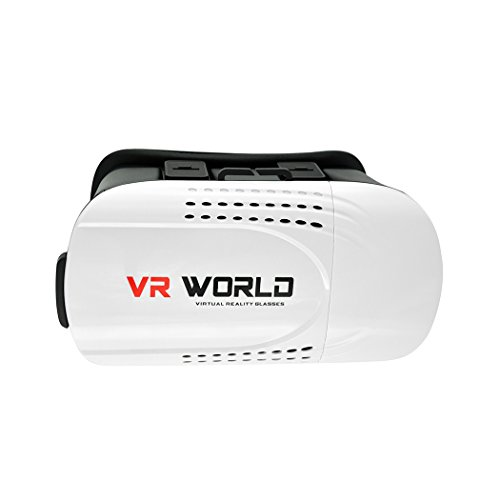 """KOOL@VOLF 3D VR World Virtual Reality Glasses Headset with Adjustable Focal & Pupil Length for 4.7""""-6.0"""" Smartphones"""