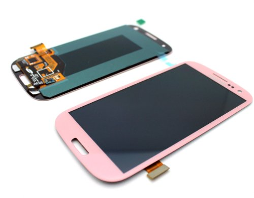 New Oem Black/White/Pebble Blue/Red/Pink/Gray/Gold/Brown Complete Front Housing Lcds Display Touch Screen Glass Digitizer Assembly For Samsung Galaxy S3 Iii I9300/I9305/I535/R530/I747/T999/L710, Dhl Shipping (Baby Pink)