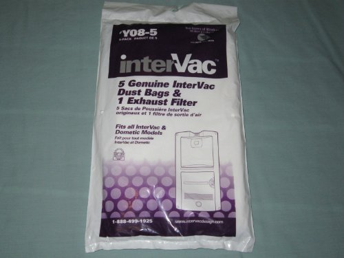 Intervac HEPA 5-pack Dust Bags and Exhaust Filter Y08-5