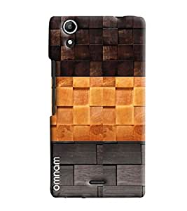Omnam Stylish Check Self Printed Three Color Back Cover Case For Micromax Selfie 2 Q340