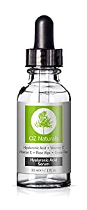 OZ Naturals - THE BEST Hyaluronic Acid Serum For Skin - Clinical Strength Anti Aging Serum - Best Anti Wrinkle Serum With Vitamin C + Vitamin E. Our Customers Call It A Facelift In A Bottle!