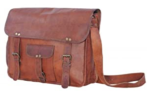 Passion Leather 16 Inch Genuine Mens Leather Messenger Laptop Briefcase Office Bag from Passion Leather