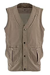 White Sierra Men\'s Traveller Vest, Khaki, Large