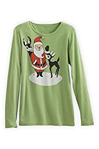 Green 3 Apparel Photo Bomb Organic Made in USA Santa Tee