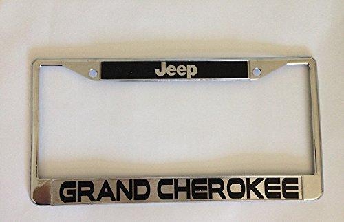 jeep grand cherokee license plate frame chrome w screw covers
