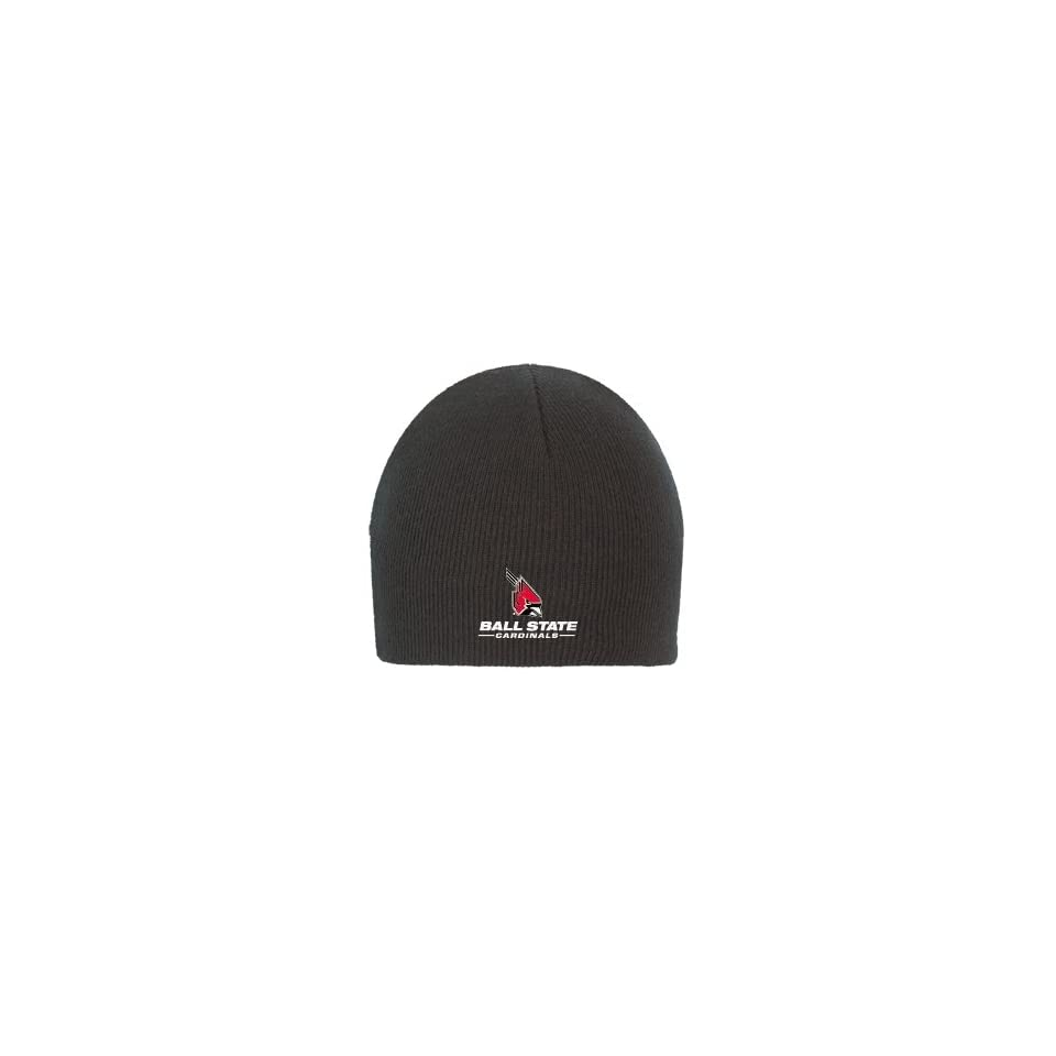 df8550e9 Ball State Black Knit Beanie 'Ball State Cardinals w/Cardinal ...