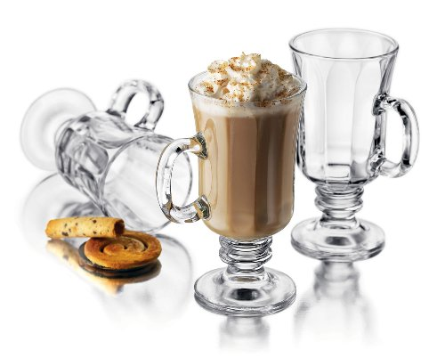 Libbey Milan 8 Ounce Irish Coffee Mug in Optic, 4-Piece Set