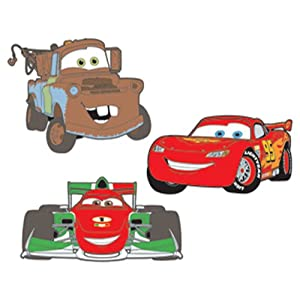 RoomMates RMK2380FLT Cars 2 Foam Characters Wall Decals, 1-Pack