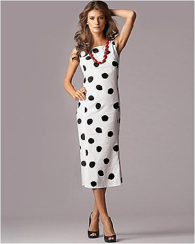 Polka-dot sheath dress