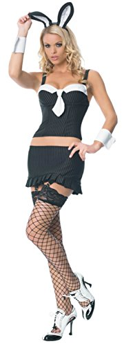 Leg Avenue Womens Bunny Gangster Cocktail Rabbit Outfit Fancy Dress Sexy Costume