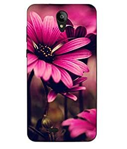 Case Cover Flower Printed Pink Soft Back Cover For Swipe Konnect Plus