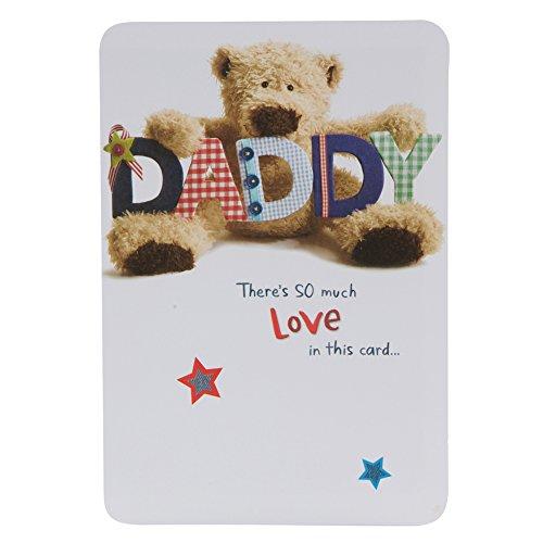 Hallmark Wellibobs - Tarjeta de felicitación cumpleaños para padre (tamaño mediano, decoración con papel metálico)