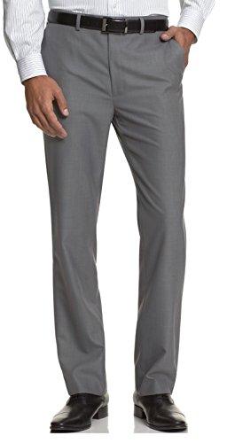 Calvin Klein Ck Slim Fit Dress Pants 32 X 32 Gray Flat Front Trousers 32/32