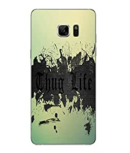 Make My Print Thug Life Printed Multicolor Hard Back Cover For Samsung Galaxy Note 7