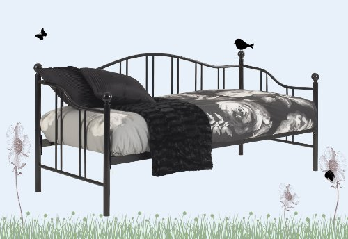 Louise Day bed - Black, 2ft6 Small single