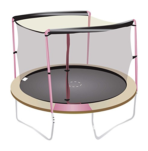 Net-for-12ft-Trampoline-Enclosure-using-2-Arches-and-Sleeves