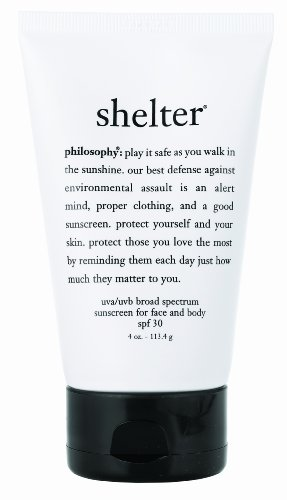 Philosophy Shelter Sun Protection, SPF 30, Untinted, 4 Ounce
