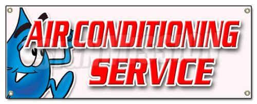 """72"""" AIR CONDITIONING SERVICE BANNER SIGN ac cooling technician air cold maintenance"""