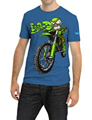 Grasshopr Mens Cotton Printed T-Shirt, Bike Design