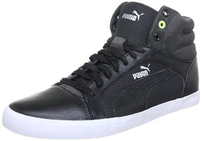 Puma Mens Street Jump Mid LS Hi-Top Sneakers Black Schwarz (black 01) Size: 40.5