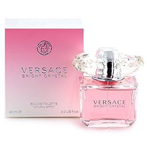 Versace Bright Crystal for Women, Eau De Toilette Spray, Pink, 3 oz