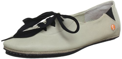 Softinos Women's Olivia Casual Lace Ups Off White P900105505 8 UK