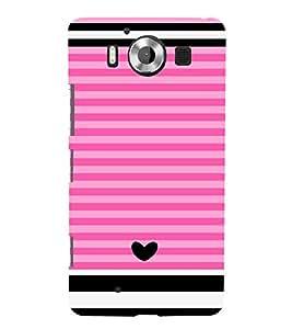 Love Pattern One 3D Hard Polycarbonate Designer Back Case Cover for Nokia Lumia 950 :: Microsoft Lumia 950
