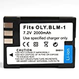 NEW Battery for Olympus BLM-1 PS-BLM1 Evolt E330 E500 E510 E520 E30 E3 C-8080 UK