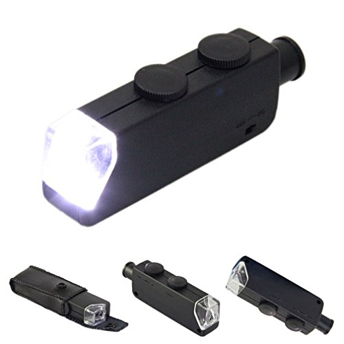 Voberry® New Pocket Mini Led Light Illuminated Magnifier Zoom Microscope For Collectors/Electronic Engineers/Scientists
