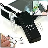 StrapyaNext キーボードクリーナー携帯ストラップ(ENTER/ブラック白文字)