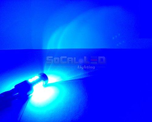 Socal-Led 2Pcs Ba15S 1156 Blue 15W High Power Super Bright Car Led Bulbs 5730 15Smd Turn Signal/Break/Tail Light