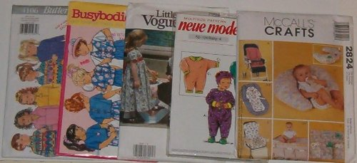 Baby/Toddler Assorted Sewing Patterns