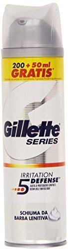 Gillette - Schiuma Da Barba Lenitiva, Aiuta A Proteggere Contro 5 Segni Dell'Iritazione - 250 Ml