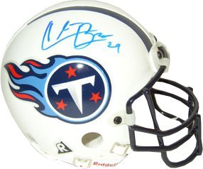 Chris Brown signed Tennessee Titans Authentic Mini Helmet by Athlon Sports Collectibles