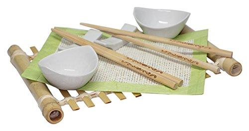 Class Wine SUSHI005 Coffret Service à Sushi pour 2 Personnes Bambou 40 x 20 x 5 cm