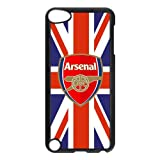 UK Flag with Arsenal Football Club Logo Printed on Ipod Touch 5 ,Hard Plastic Case,Arsenal Ipod 5 Case