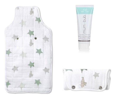 aden + anais Portable Travel Baby Changing Pad & Ointment, Up Away Elephant