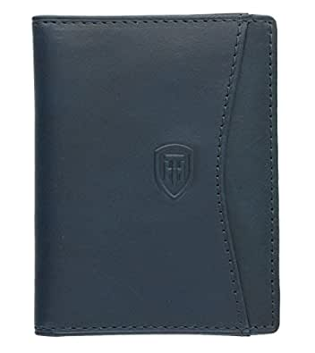 Tumble & Hide Italian Leather Travel Pass / Oyster Card Holder - 5307_THV Blue