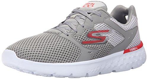 Skechers Performance Men's Go Run 400 Running Shoe, Light Gray/Red, 8.5 M US