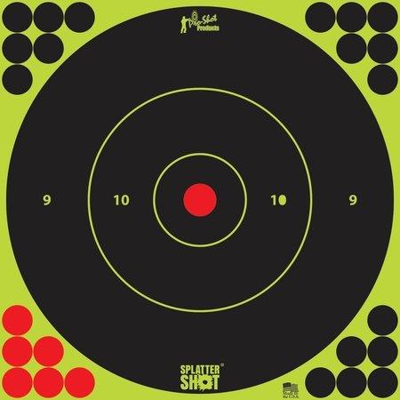 Pro-Shot Splatter Shot Bullseye Targets Peel And Stick 12 Inch Green 100 12B-GREEN-100