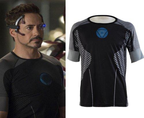Iron Man 3 Tony Stark T-shirt Cosplay Kostüm Größe 2XL