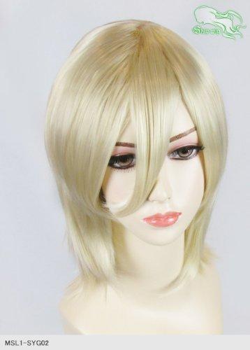 スキップウィッグ 魅せる シャープ 小顔に特化したコスプレアレンジウィッグ シャイニーミディ バニラ