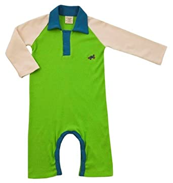 Green Nippers Rupert Raglan Organic Baby Boy's Baby Grow Vanilla Baby Boy's Blue & Lime 0-3 Months